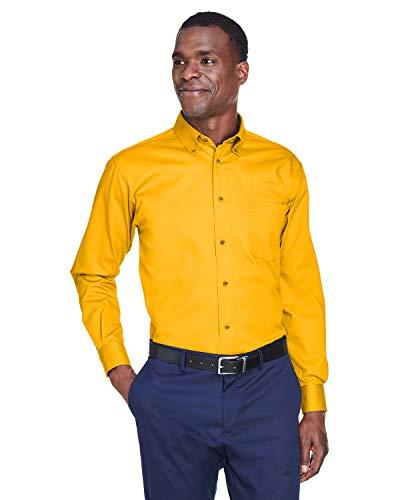 Harriton Men's Long-sleeve Twill Dress Shirt -
