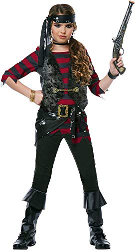 Rebellious Sea Treasure Explorer Hunter Renegade Pirate Costume Child Girls -