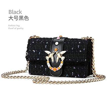 a942e80333f0 Amazon.com: GSYDXKB Shoulder Bag New Woolen Leather Handbags Knit ...