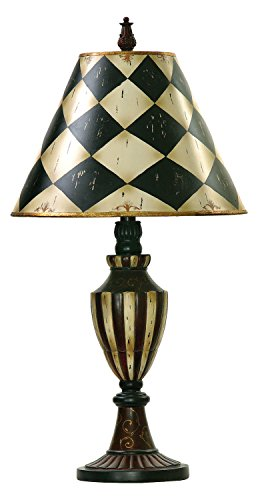 One Light Black/Antique White Table Lamp (Harlequin Traditional Table Lamp)