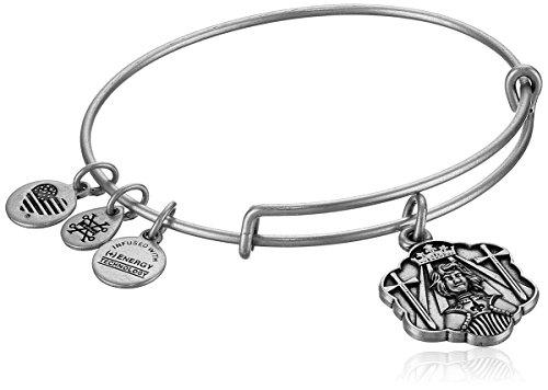 (Alex and Ani Joan of Arc Bangle Bracelet, Rafaelian Silver,)