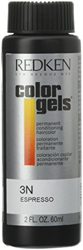 Redken Color Gels Permanent Conditioning 3N Espresso Hair Color for Unisex, 2 Ounce (Pack of 5) by Perfume World Wide