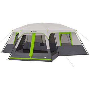 Ozark Trail 12-Person 3-Room Instant Cabin Tent with Screen Room (Green  sc 1 st  Amazon.com & Amazon.com: Ozark Trail 12-Person 3-Room Instant Cabin Tent with ...