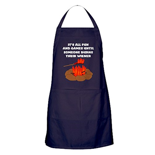 CafePress Someone Burns Wiener Kitchen Apron with Pockets,