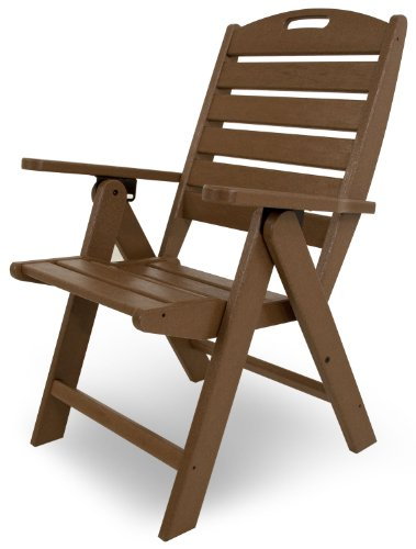 POLYWOOD NCH38TE Nautical Highback Chair, Teak