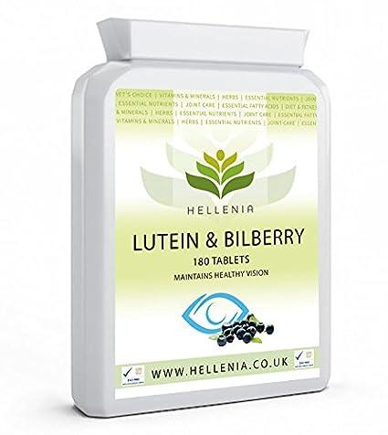 Luteína y Arándano (Lutein & Bilberry) 500mg - 180 Tabletas - Para los ojos