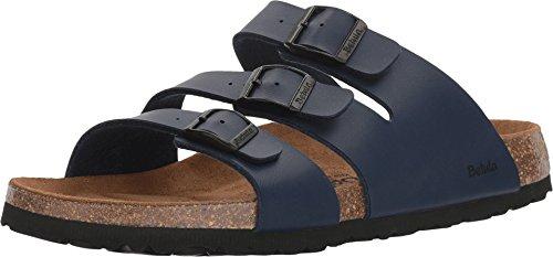 Betula Licensed by Birkenstock Women's Leo Birko-Flor Basic Navy (Birkenstock Ladies Sandals)