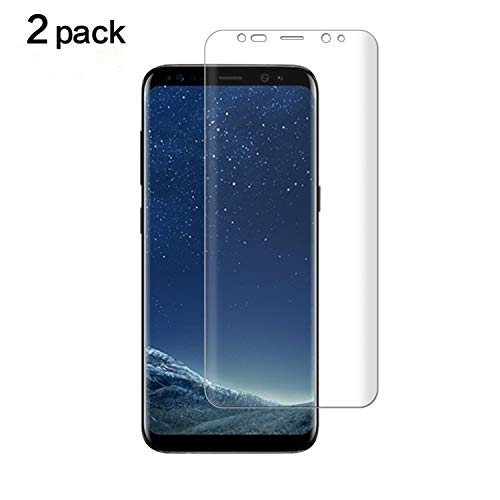Galaxy S8 Plus Screen Protector[Not Glass],TANTEK [Anti-Bubble] [HD Ultra Clear] TPU Film Curved Edge to Edge Screen Protector for Samsung Galaxy S8 Plus[Galaxy S8+],[2-Pack]