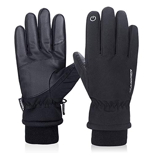 Lanyi Winter Thermal Fleece Gloves Windproof Snow Proof 3M Thinsulate Screen Touch Cycling Driving Ski Thick Gloves Men Women Cold Weather Gloves (Small)