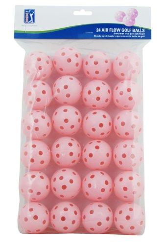 (Pink) - PGA Tour 24 Air Flow Practise Golf Balls