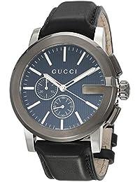 d2d13f47c9b G-Chrono Black Dial Leather Mens Watch YA101205 · Gucci