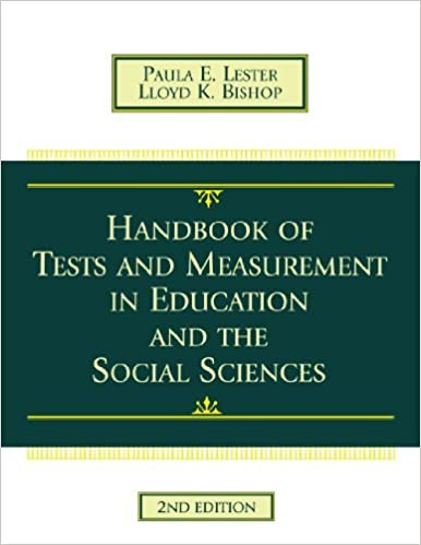 Book Handbook Of Tests And Measurement In Education And The Social Sciences:2nd (Second) edition