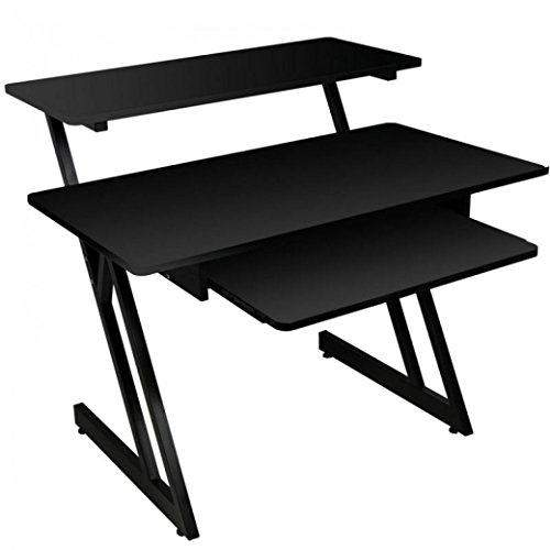 On-Stage WS7500 Series Wood Studio Workstation, Black (Studio Equipment For Music)
