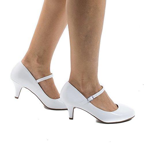 High Classified white Heel Women's Comfort City Jane pat Mary Kirk q1YnP