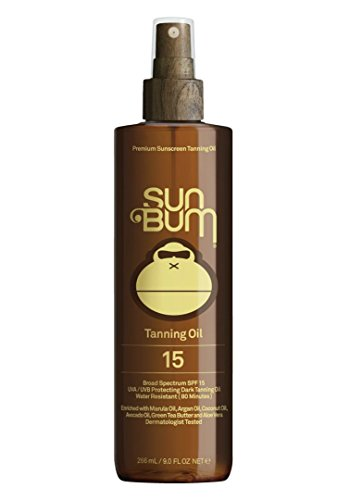 Sun Bum Moisturizing Tanning Oil, SPF 15, 9 oz Bottle, 1 Count, Broad Spectrum UVA/UVB Protection,  Coconut Oil, Aloe Vera, Hypoallergenic, Paraben Free, Gluten Free, Vegan