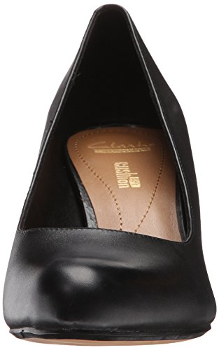 Clarks Womens Arista Abe Dress Pump In Pelle Nera