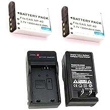 2X LB-060 Battery + Charger for Kodak PIXPRO AZ522 AZ521, Kodak AZ501, Kodak AZ421, Kodak AZ362 AZ361