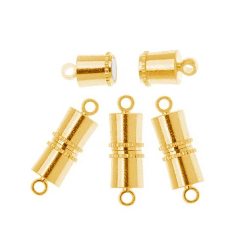 Plated Magnetic Barrel Clasps 11x5mm