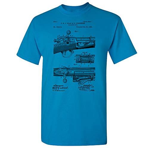 Repeating Bolt Action Rifle T-Shirt, Rifle Shirt, Marksman Gift, Gun Enthusiast, Hunter Gift, Gun Club, Deer Hunting Sapphire (Large)