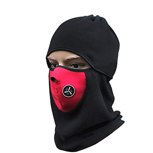 Smdoxi Seamless Headscarf mask Headband Scarf Headscarf Multi-Function Music Festival, Horse Riding, Outdoor Red ()