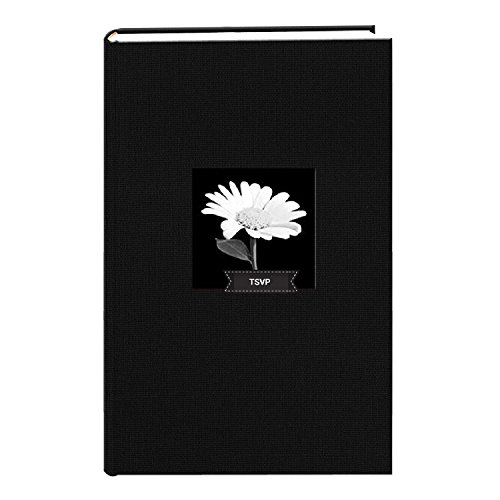 TSVP Fabric Frame Cover Photo Album 300 Pockets Hold 4x6 Photos, Deep Black