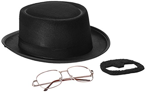 Heisenberg Costume Breaking Bad (Rasta Imposta Men's Breaking Bad Heisenberg Kit, Black, One Size)