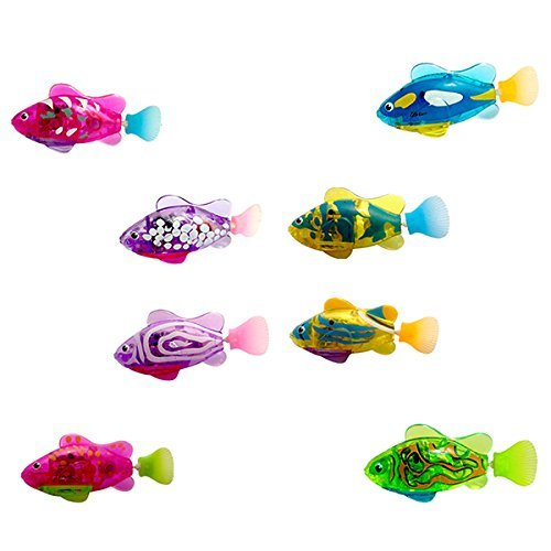TOYMYTOY 4pcs Robot Fish Swimming Diving Electric Toy Childen Kids Playing water toy Gifts