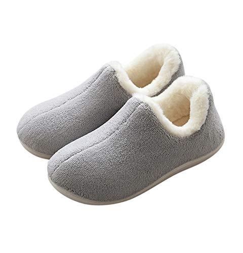 Tuoup Grey Fashion Slip Bootie Outdoor Women's Anti Slippers House Fuzzy rqwxr6AEz