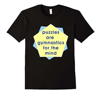 Mens Puzzle Mind Gymnastics T-Shirt 2XL Black