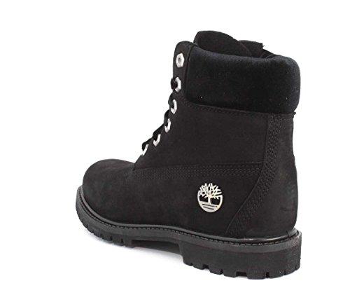 Boot Nubuck 6in Premium Homme Boots Timberland Collar Black velvet xaSpAS