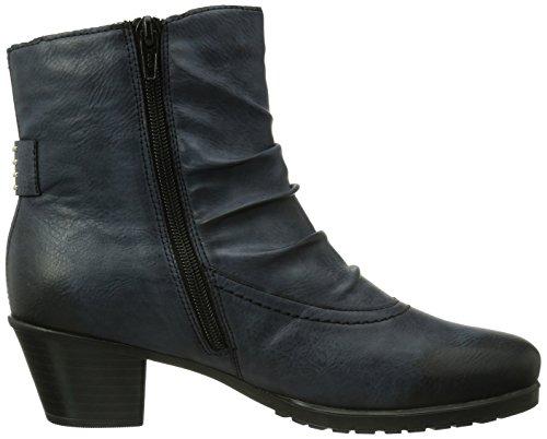 Rieker Y0080-15 Damen Halbschaft Stiefel Blau (ozean / 15)