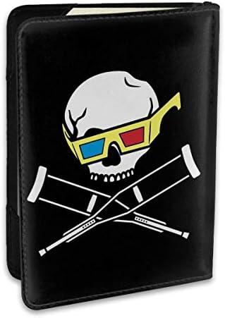 JackassジャッカスSkull-3 パスポートケース パスポートカバー メンズ レディース パスポートバッグ ポーチ 収納カバー PUレザー 多機能収納ポケット 収納抜群 携帯便利 海外旅行 出張 クレジットカード 大容量