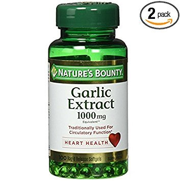 - Nature's Bounty Garlic Extract 1000 mg Softgels 100 ea (Pack of 2)