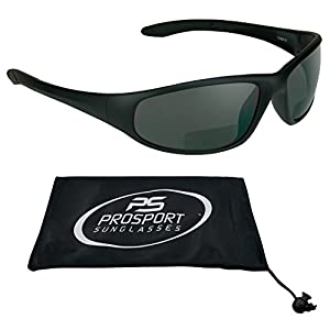 Motorcycle Wraparound Bifocal Sunglasses 1.50 with ANSI Z87.1 Safety Smoke Lens for Men and Women - Free Microfiber Cleaning Case. Puma/SMK/1.5