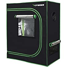 "VIVOSUN 30""x18""x36"" Mylar Hydroponic Grow Tent with Observation Window and Floor Tray for Indoor Plant Growing"
