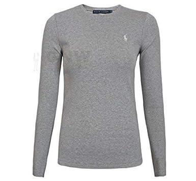 b930e720 Ralph Lauren Polo Women's LS Perfect TEE/T Shirt/TOP Black, Navy, White  S,M,L,XL: Amazon.co.uk: Clothing