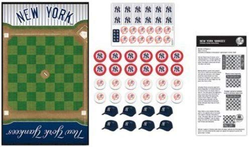 MasterPieces MLB New York Yankees Checkers Board Game