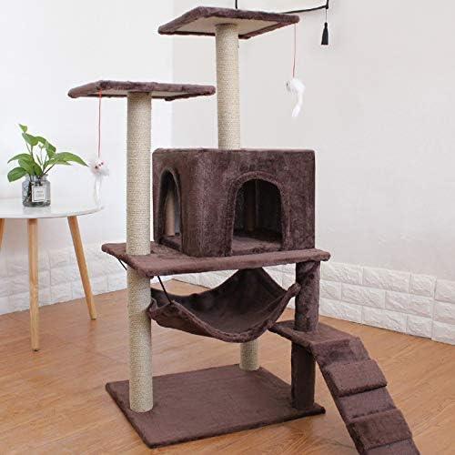 GJR-Maojia Gato para Mascotas Muebles de múltiples Capas de rascarse en el Poste Escalada Árbol de Salto Marco Juguete con Escalera Gatos Casa Suministros: Amazon.es: Productos para mascotas