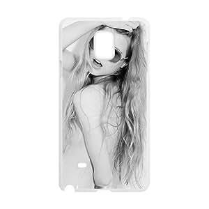 Blonde Glasses Hard Case Design Pattern for Samsung Note 4Retail Packaging Plastic Case