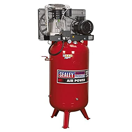 Sealey SACV52775B 270 litros 7,5 hp 3 ph 2-etapa fundido compresor cinturón