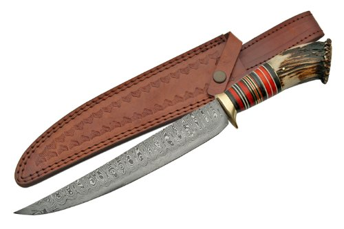 Damascus Crown Bowie.