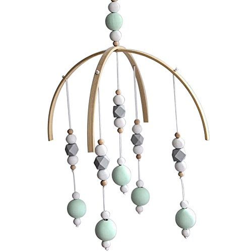 CC Shop Nursery Mobile Crib Bed Bell Baby Bedroom Ceiling Wooden Beads Wind Chime Hanging Ornament (#09)