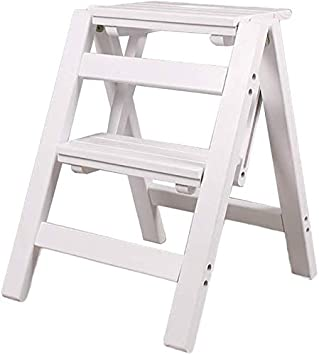 Amazon Com Folding Step Stool For Kids Step Stool For Kids Step 2 Stool Bench Step Stool Space Saving Compact Kitchen Dining Table Chairs Set Color White Furniture Decor