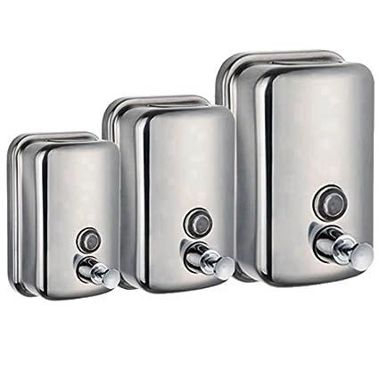 Duless Dispensador de jabón de Acero Inoxidable para baño o Cocina, dispensador de jabón líquido