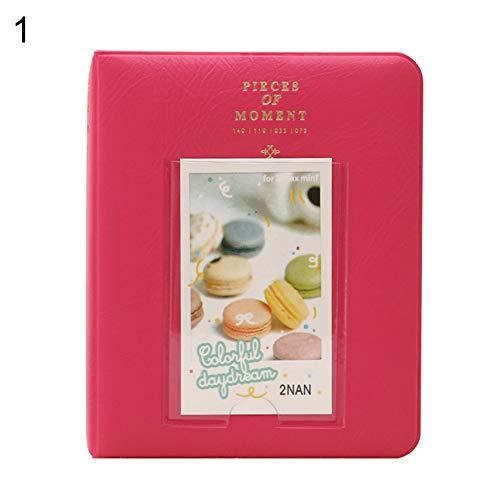 Gftablks Cartoon 3inch Kid Photo Album, 64 Pockets Mini Picture Storage Holder for FujiFilm Instax - Rose Red