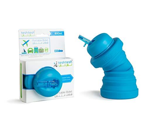 Tesh.tesh Portable Bidet- Collapsable Easy to Store- 600 ml Capacity Travel Wash- Easy to use Bidet Sprayer for toilet
