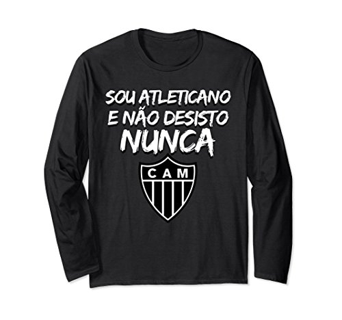 fan products of Unisex Atletico Mineiro Soccer Fan LS T-Shirt 2XL Black
