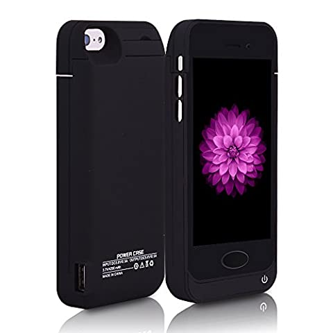 For iPhone 5/5s Charger Case, BSWHW 4200mAh 4