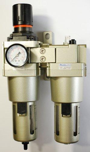 Auto Drain Air Filter/Regulator/Lubricator 3/4'' NPT 4000 L/min with Gauge by MettleAir