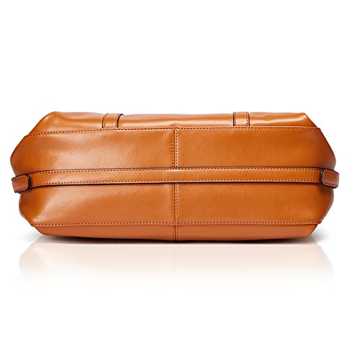 BOSTANTEN Damen Mädchen Leder Umhängetasche Handtasche Schultertasche Uni Tasche Rosarot 8-braun WeqGkZB